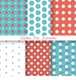 pastel seamless patterns Polka Dot vector image vector image