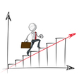 Simple Business People Steady Growth Chart vector image