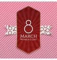 International Womens Day red striped Banner vector image