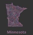 Minnesota line art map vector image