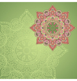 background with lace circle hand drawn ornament vector image