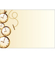 Brown wallpaper with retro watch design vector image