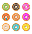 donut cake set isolated on whitt background vector image