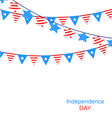 Hanging Bunting Garlands vector image
