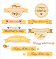 Mother day label set vector image