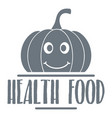 pumpkin logo simple gray style vector image