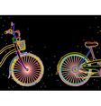 Bicycle retro design vector image
