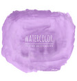 Purple real watercolor texture background vector image