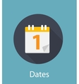 Dates Flat Concept Icon vector image