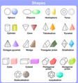Learning the 3D shapes for kids vector image