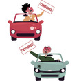 Road rage characters vector image