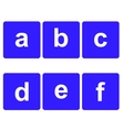 Basic Font for Letters vector image