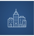 Residential buildings line icon vector image vector image