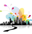 Abstract sky with city scape vector image