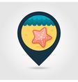 Starfish pin map icon Summer Vacation vector image
