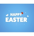 Happy Easter logo template vector image