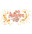 Hello autumn banner vector image