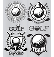 set of patterns badges for golf vector image