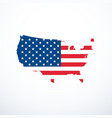 usa map icon vector image