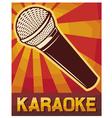 karaoke poster vector image vector image