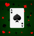 ace of spades playing cards vector image