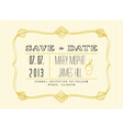 Classic Save the Date vector image vector image