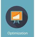 Optimization Flat Concept Icon vector image