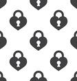 heart lock seamless pattern vector image