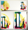 Artistic Greeting Card Letter L vector image