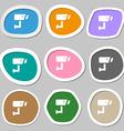 Surveillance Camera icon symbols Multicolored vector image