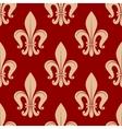 Fleur-de-lis seamless pattern on scarlet red vector image