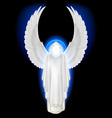 Angel white vector image vector image