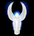 Angel white vector image