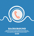 Call icon sign Blue and white abstract background vector image