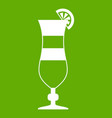 cocktail icon green vector image