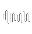 equalizer volume sound icon simple black style vector image
