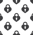 heart lock seamless pattern vector image