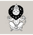 Hindu God Narasimha vector image