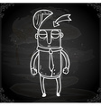 Man with an Open Head Drawing on Chalk Board vector image