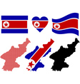 Map of North Korea vector image