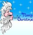 Santa Claus blowing wind vector image