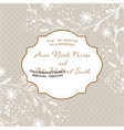 Wedding card with flowers on polka dot background vector image