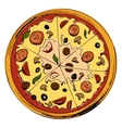 Sliced pizza icon vector image vector image