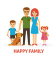 happy family flat with mother vector image