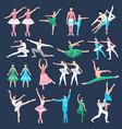 ballet dancers set vector image