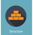 Structure Flat Concept Icon vector image
