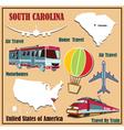 Flat map of South Carolina vector image