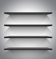 Empty black shelves vector image