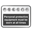 Health and Safety sign vector image vector image