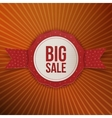 Big Sale Christmas realistic paper red Label vector image